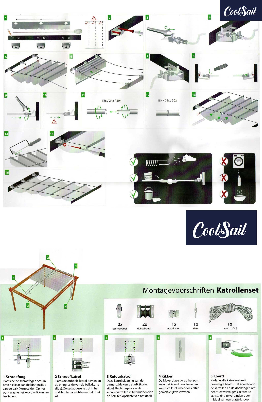 Download hier de montage handleiding voor het installeren van een Harmonicadoek tot 290cm