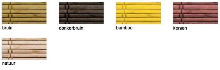rolgordijn bamboe kleuren