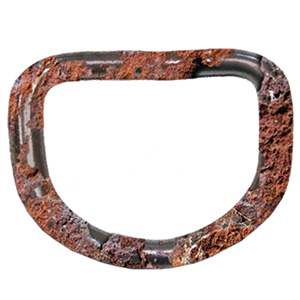 Zonnedoek geroest D-ring